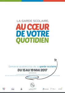 Affiche de la Semaine québécoise de la garde scolaire 2017