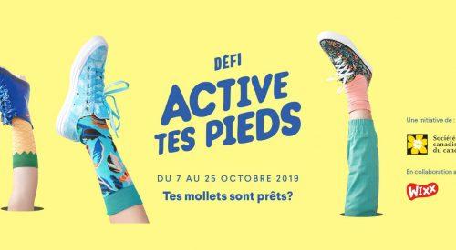 C'est déjà le temps d'inscrire votre école au Défi Active tes pieds 2019.