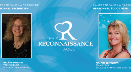 Les lauréats du Prix Reconnaissance AQGS 2020