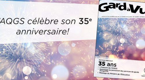 L'AQGS célèbre son 35e anniversaire!